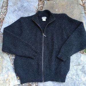 Vintage LL BEAN Wool & Alpaca Zip Up Sweater